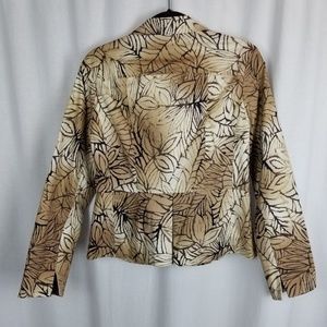 Coldwater Creek Jackets & Coats - Coldwater Creek womens jacket size 8 brown leaves